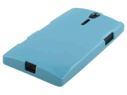 Glossy Gel Case for Sony Xperia S LT26i - Sky Blue