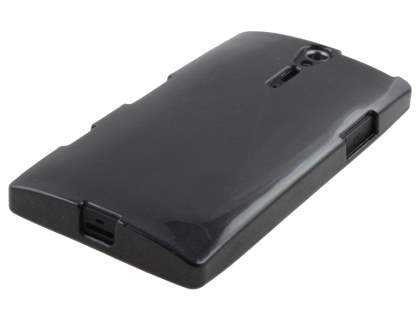 Glossy Gel Case for Sony Xperia S LT26i - Black