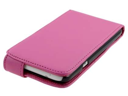 HTC One X / XL / X+ Synthetic Leather Flip Case - Pink