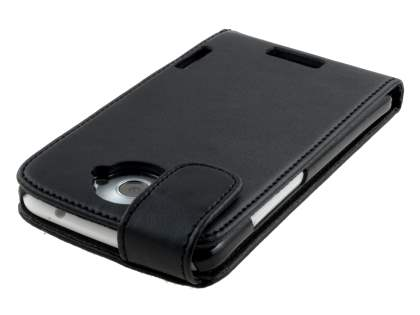 HTC One X / XL / X+ Synthetic Leather Flip Case - Black