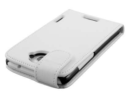 HTC One X / XL / X+ Synthetic Leather Flip Case - Pearl White