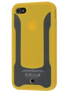 COCASES Dual-Design Case for iPhone 4S/4 - Yellow/Clear Dual-Design Case
