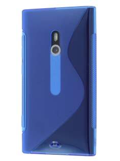Nokia Lumia 800 Wave Case - Frosted Blue/Blue Soft Cover