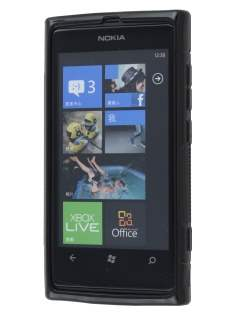 Nokia Lumia 800 Wave Case - Frosted Black/Black