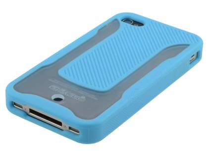 COCASES Dual-Design Case for iPhone 4S/4 - Sky Blue/Clear
