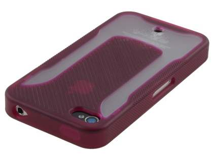 COCASES Dual-Design Case for iPhone 4S/4 - Burgundy Red/Clear