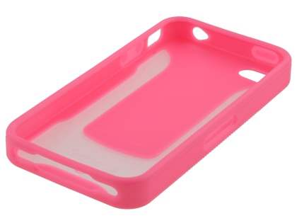 COCASES Dual-Design Case plus Screen Protector for iPhone 4S/4 - Pink/Clear