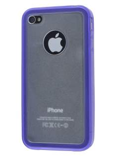 iPhone 4S Dual-Design Case - Purple/Frosted Clear Dual-Design Case