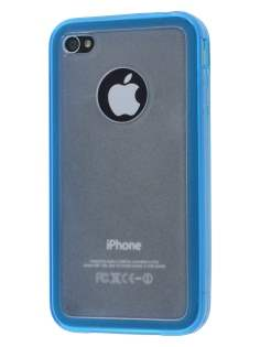iPhone 4S Dual-Design Case - Sky Blue/Frosted Clear