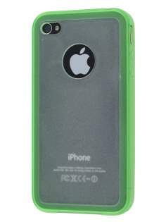 iPhone 4S Dual-Design Case - Green/Frosted Clear Dual-Design Case