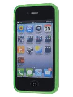 iPhone 4S Dual-Design Case - Green/Frosted Clear