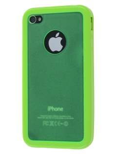 iPhone 4S Dual-Design Case - Green/Frosted Green Dual-Design Case