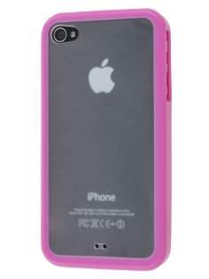 Dual-Design Case for iPhone 4S/4 - Pink/Frosted Clear Dual-Design Case