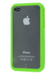 Dual-Design Case for iPhone 4S/4 - Green/Frosted Clear Dual-Design Case