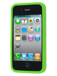 iPhone 4S/4 Dual-Design Case - Green/Frosted Clear
