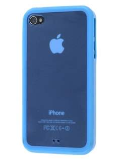 Dual-Design Case for iPhone 4S/4 - Sky Blue/Frosted Blue Dual-Design Case