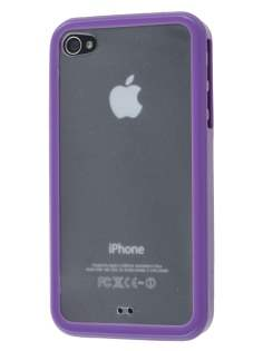 Dual-Design Case for iPhone 4S/4 - Purple/Frosted Clear Dual-Design Case