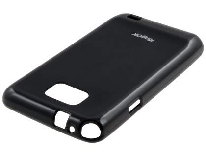KingOK Samsung I9100 Galaxy S2 Frosted TPU Case plus Screen Protector - Classic Black