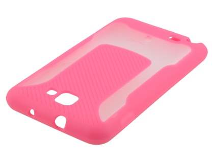 COCASES Dual-Design Case plus Screen Protector for Samsung Galaxy Note - Pink/Clear