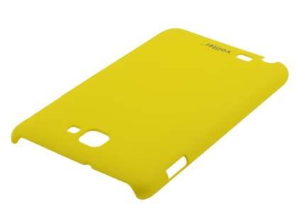 Vollter Samsung Galaxy Note Ultra Slim Rubberised Case plus Screen Protector - Canary Yellow