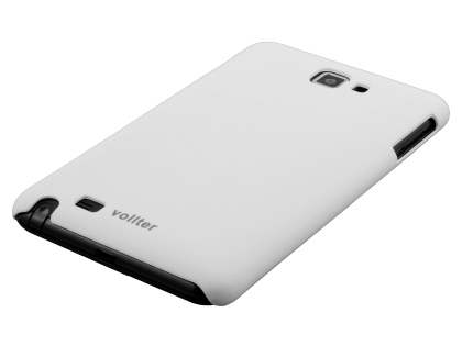 Vollter Samsung Galaxy Note Ultra Slim Rubberised Case plus Screen Protector - Pearl White