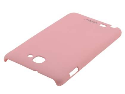 Vollter Samsung Galaxy Note Ultra Slim Rubberised Case plus Screen Protector - Baby Pink