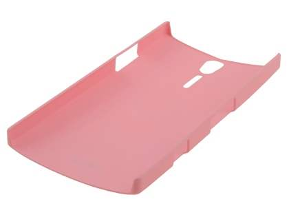Vollter Sony Xperia S Ultra Slim Rubberised Case plus Screen Protector - Baby Pink
