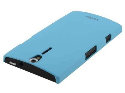 Vollter Sony Xperia S Ultra Slim Rubberised Case plus Screen Protector - Sky Blue