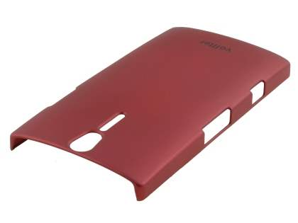 Vollter Sony Xperia S Ultra Slim Rubberised Case plus Screen Protector - Red