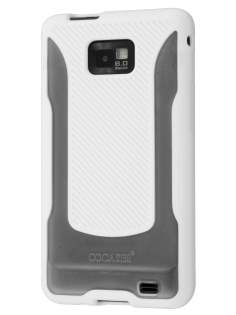 COCASES Dual-Design Case plus Screen Protector for Samsung I9100 Galaxy S2 - Pearl White/Clear