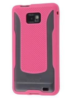 COCASES Dual-Design Case for Samsung I9100 Galaxy S2 - Pink/Clear Dual-Design Case