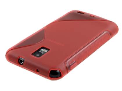 Samsung I9210T Galaxy S II 4G Wave Case - Frosted Red/Red