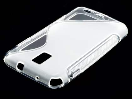 Samsung I9210T Galaxy S II 4G Wave Case - Frosted Clear/Clear