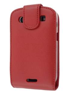 BlackBerry Bold 9900 Genuine Leather Flip Case - Red Leather Flip Case