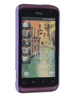 Vollter HTC Rhyme Ultra Slim Rubberised Case plus Screen Protector - Light Purple