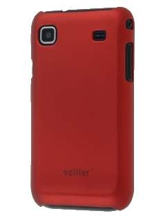 Vollter Samsung I9000 Galaxy S Ultra Slim Rubberised Case plus Screen Protector - Burgundy Red