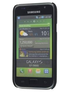 Vollter Samsung I9000 Galaxy S Ultra Slim Rubberised Case plus Screen Protector - Classic Black