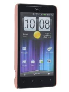 Vollter HTC Velocity 4G Ultra Slim Rubberised Case plus Screen Protector - Baby Pink