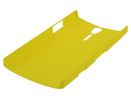 Vollter Sony Xperia S Ultra Slim Rubberised Case plus Screen Protector - Canary Yellow