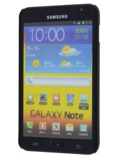 Vollter Ultra Slim Glossy Case plus Screen Protector for Samsung Galaxy Note - Classic Black