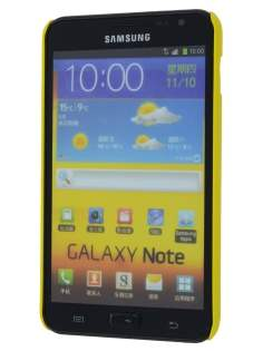 Vollter Ultra Slim Glossy Case plus Screen Protector for Samsung Galaxy Note - Canary Yellow