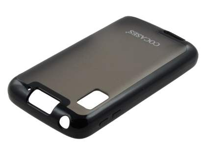 COCASES Dual-Design Case plus Screen Protector for Motorola ATRIX - Black/Grey