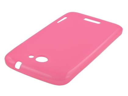 HTC One X / XL / X+ TPU Gel Case - Frosted Pink