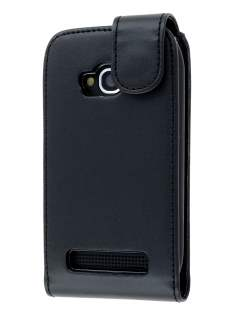 Nokia Lumia 710 Synthetic Leather Flip Case - Black Leather Flip Case