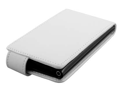 Nokia Lumia 800 Synthetic Leather Flip Case - White