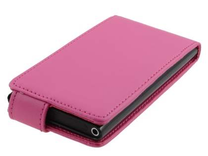Nokia Lumia 800 Synthetic Leather Flip Case - Pink