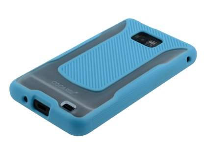 COCASES Dual-Design Case plus Screen Protector for Samsung I9100 Galaxy S2 - Sky Blue/Clear