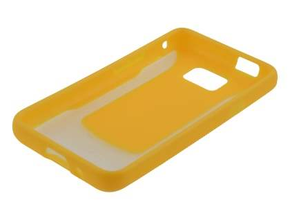 COCASES Dual-Design Case plus Screen Protector for Samsung I9100 Galaxy S2 - Yellow/Clear