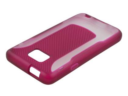 COCASES Dual-Design Case for Samsung I9100 Galaxy S2 - Burgundy Red/Clear