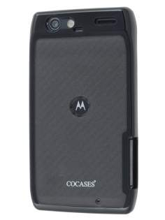 COCASES Dual-Design Case for Motorola RAZR - Black/Grey Dual-Design Case